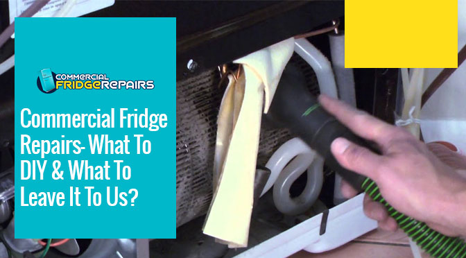 Commercial Fridge Repairs- What To DIY & What To Leave It To Us?