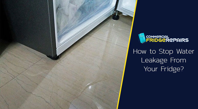 How to Stop Water Leakage From Your Fridge?