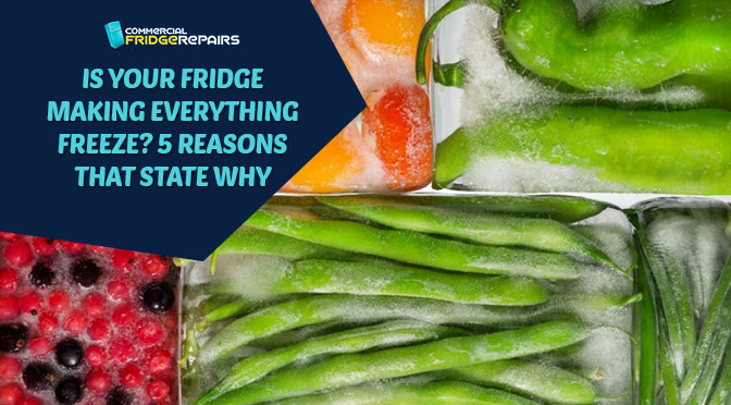is your fridge making everything freeze