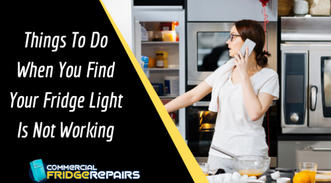 Things To Do When You Find Your Fridge Light Is Not Working